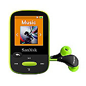 SanDisk Clip Sport Lime 8 GB MP3 Player