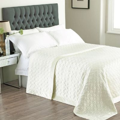 Riva Home Allure Ivory Bedspread - 240x260cm