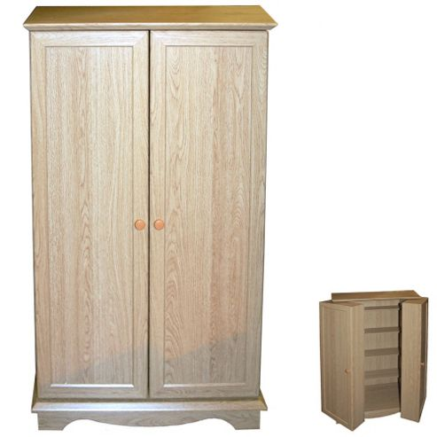 Techstyle CD / DVD / Video Media Storage Cupboard - Oak