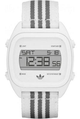 Adidas Gents Sports Digital Chronograph White Material Strap Watch ADH2732