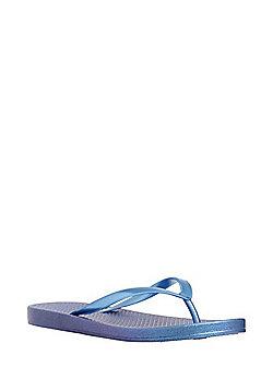 F&F Iridescent Flip Flops - Blue