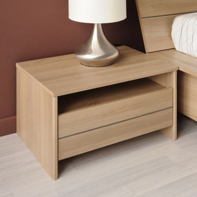 Parisot Split Bedside Table - Smoked Acacia