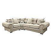 Dorado Corner Sofa Fabric Left Cream