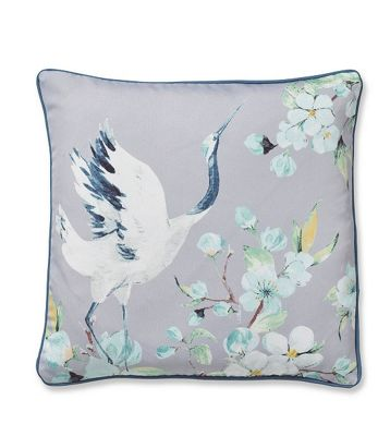 Catherine Lansfield Heron Cushion Cover - Grey