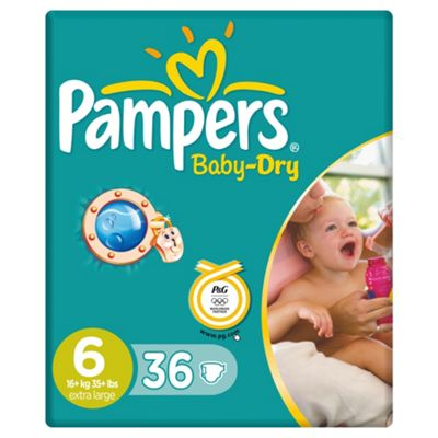 Pampers Baby Dry Economy Pack Extra Large 36 (Size 6)