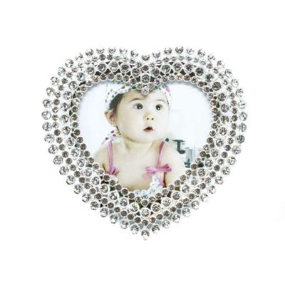 Buy Small Heart Shaped Silver Plated Photo Frame 3\