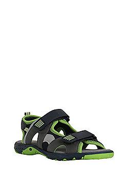 F&F Riptape Trekker Sandals - Grey/Green