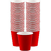 Red Coffee Cups - 340ml Paper Party Cups - 40 Pack