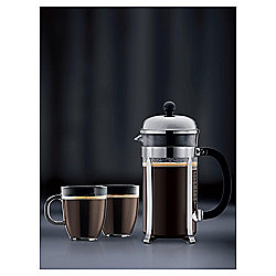 Bodum Stainless Steel Chambord 8 cup and 2 Bistro Mug Set