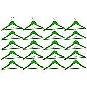 Harbour Housewares Pack of 20 Green Childrens Wooden Clothes / Coat Hangers