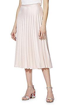 F&F Pleated Midi Skirt - Blush Pink
