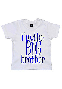 Dirty Fingers I'm the BIG Brother Baby T-shirt - White