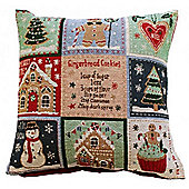 Jolly Gingerbread Tapestry Cushion Cover