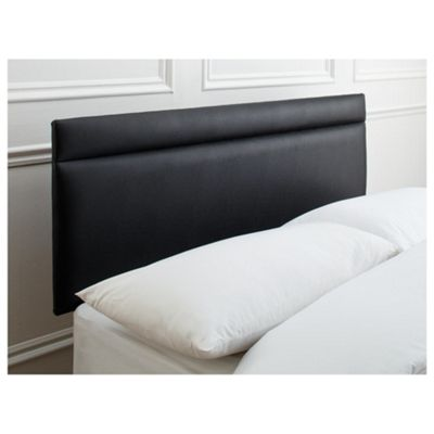 Seetall Liberty Headboard Black Faux Leather Single