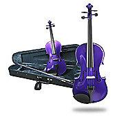 Fantasia Violin Outfit - Purple 1/2 Size