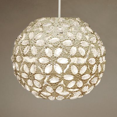 Moroccan Style Metal Ceiling Pendant Light Shade, Cream