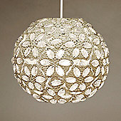Moroccan Style Metal Ceiling Pendant Light Shade, Cream