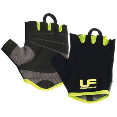 UFE Fitness Mens Weight Training Gym Exercise Gloves Black/Green - L/XL