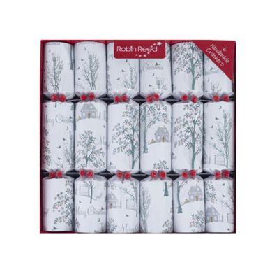 Robin Reed Crackers - Winter Wonderland - 12 Inch - 6 Pack