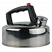 Yellowstone 2L Stainless Steel Whistling Kettle Silver