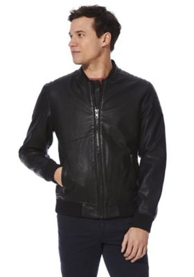 F&F Faux Leather Biker Jacket Black S