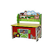 Fantasy Fields by Teamson Happy Farm Storage Bench