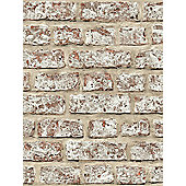Rustic Brick Wallpaper Natural Arthouse 889604