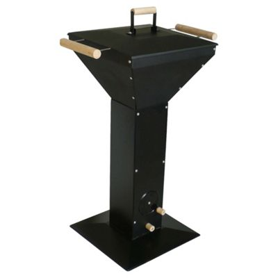 Tesco Steel Pedestal Charcoal BBQ, Black
