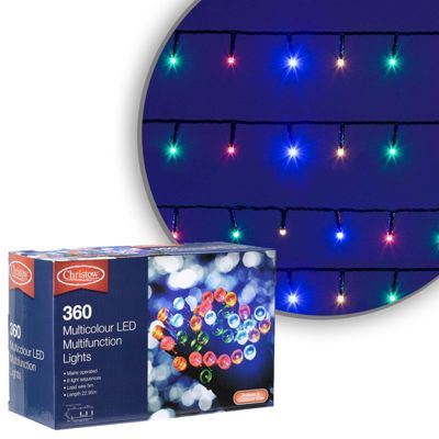 360 LED Multi-Coloured Chaser Christmas Lights