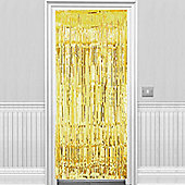 Gold Metallic Door Curtain - 2.4m