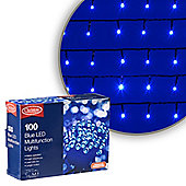 100 LED Blue Chaser Christmas Lights