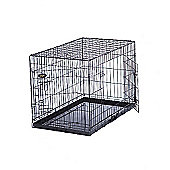 Dog Cage Puppy Crate - Black