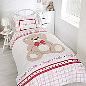 Rapport Snuggle & Cuddle Duvet Cover Set - Red