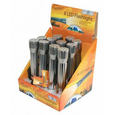 LED Torch With 8 LED's - Boyz Toys