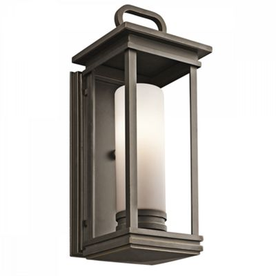 Rubbed Bronze Medium Wall Lantern - 1 x 60W E27