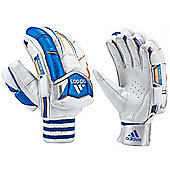 adidas Elite Cricket Batting Glove Adult White/Blue - Left Hand Large Mens