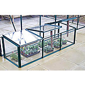 Simplicity Toughened Glass Mini Greenhouse Cold frame 2ftx6ft