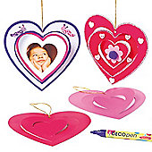 Heart Spiral Hanging Decorations (Pack of 10)