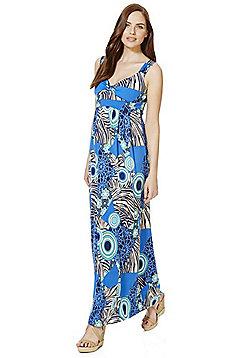 Mela London Mixed Print Maxi Dress - Blue