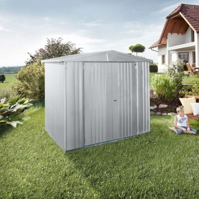 6 x 5 Premier Heavy Duty Metal Silver Metallic Shed (1.72m x 1.56m) 6ft x 5ft