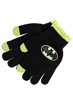 DC Comics Batman Glow in the Dark Touch Screen Gloves - Black