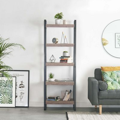 VonHaus Rustic 5-Tier Shelf Organiser