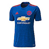adidas Manchester United Replica Away Jersey 16/17 - Blue