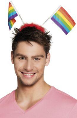 Boland BV Carnival Gay Pride Rainbow Flag Headband Fancy Dress Accessory
