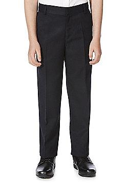 F&F School Boys Flat Front Trousers - Navy
