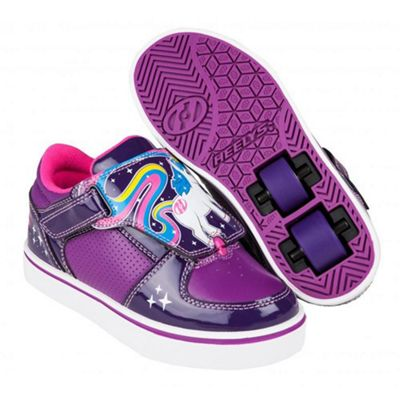Heelys Unicorn Twister Grape/Purple/Hot Pink HX2 Heely Shoe UK 2