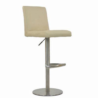 buy harlem brushed steel bar stool cream from our bar. Black Bedroom Furniture Sets. Home Design Ideas