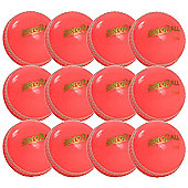 12 Pack x Aero Incrediball Club Cricket Balls Pink Mens