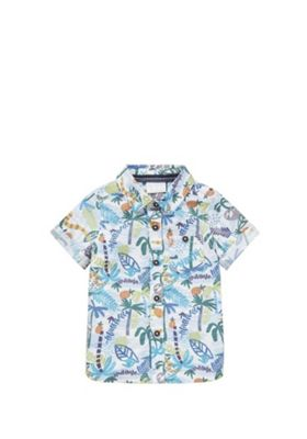 F&F Rainforest Print Short Sleeve Shirt Multi 0-3 months