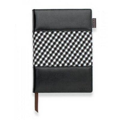Cross Small Black GINGHAM Journal With Pen
